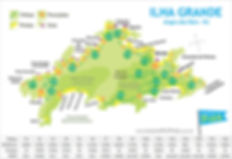 Mapa das Trilhas da Ilha Grande
