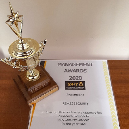 Remez Security SA named Supplier of the Year 2020 by 247 Security Services