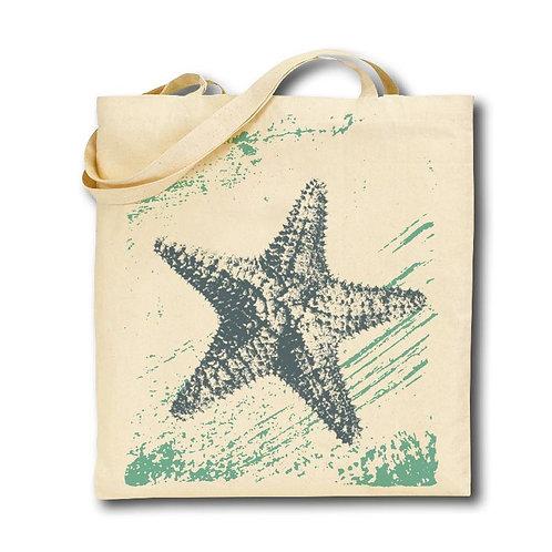 Starfish Tote Bag, 100% Cotton, Screen Printed