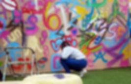 קורסי גרפיטי לנוער, ציורי קיר וספריי