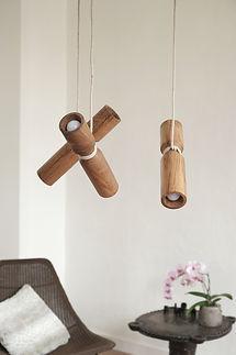 verlichting uit hout - Toko design - design lamp - design verlichting