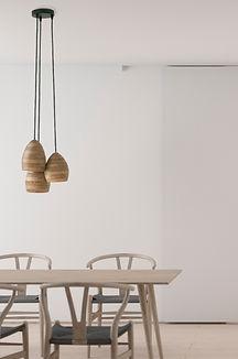 hanglamp - pendant lamp - houten verlichting - toko design - design lamp - design verlichting - handmade lamp