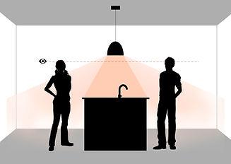op welke hoogte een lamp hangen