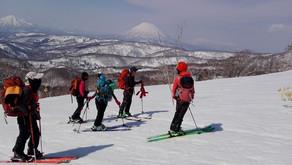 春スキーを楽しもう小喜茂別岳で