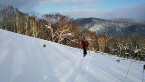 深雪デビューの新人とともに股上山へ