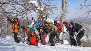 山スキー楽しいな!タケノコ山
