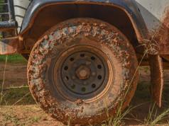 Muddy tires, Nigeria
