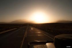Desert sunset, A2A Expedition