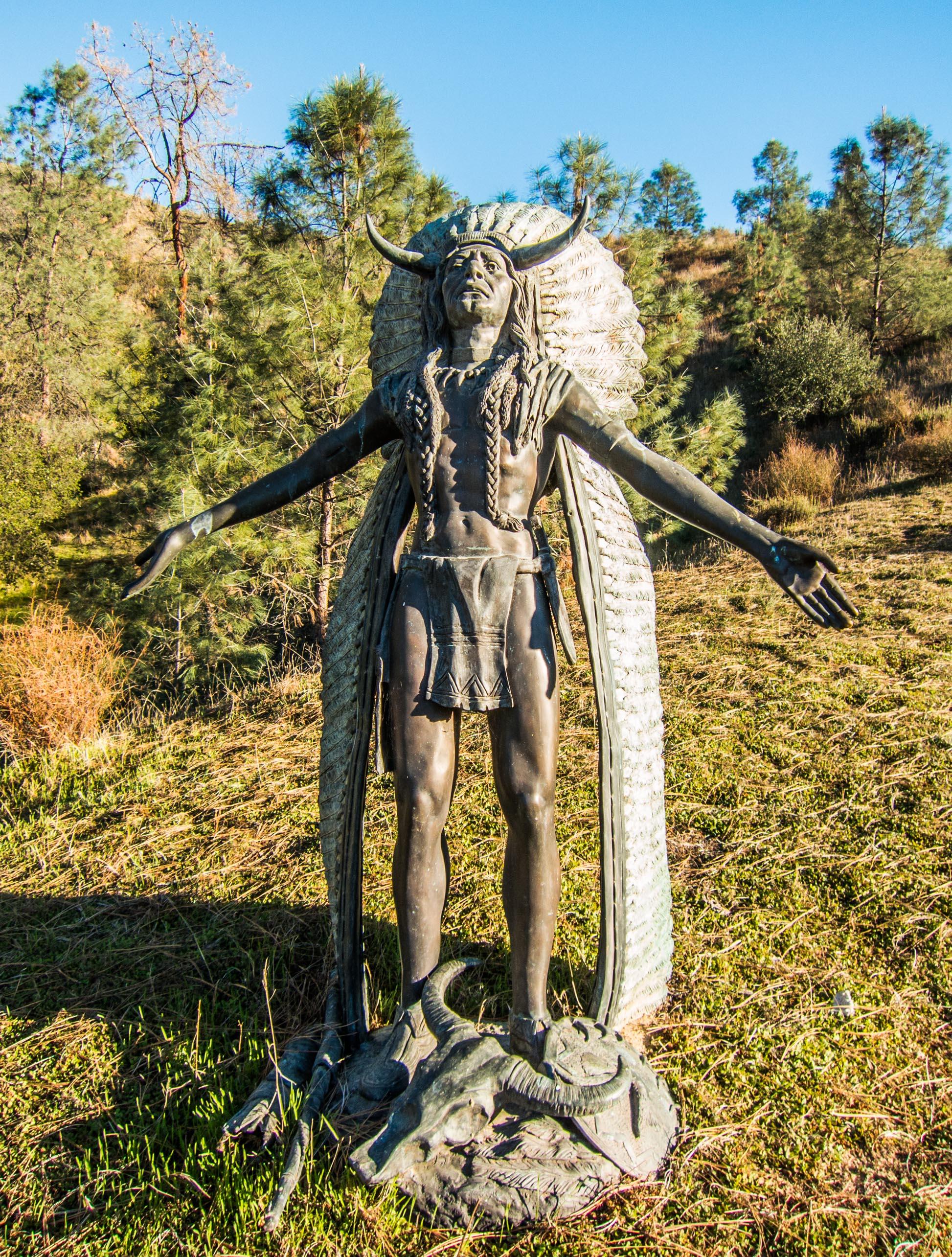 Native American statue, A2A