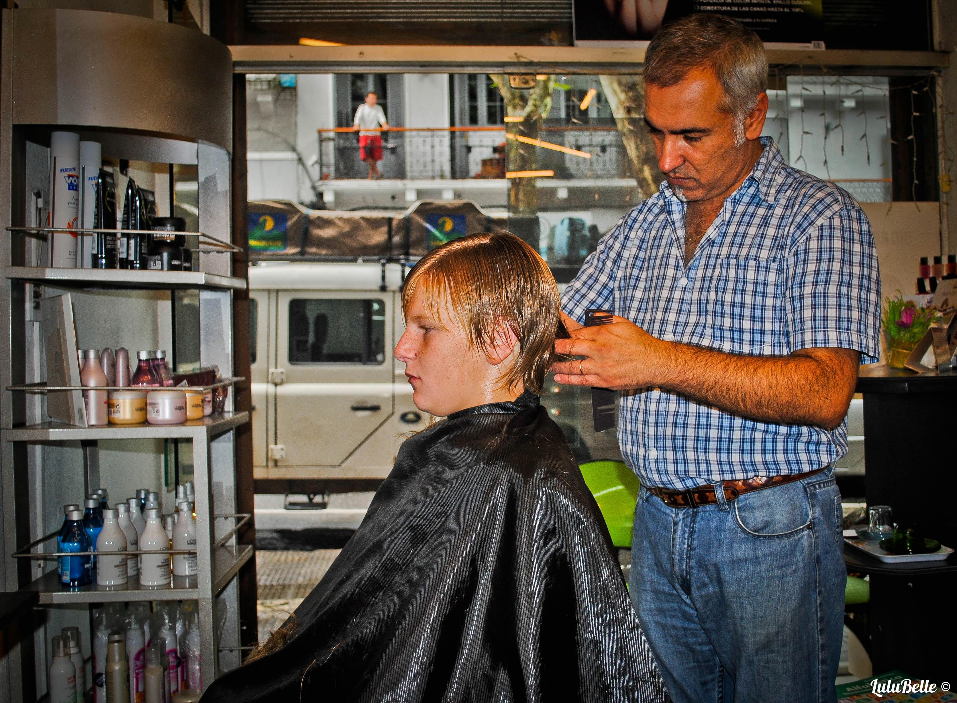 Keelan gets the Bieber cut, A2A