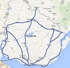 Route around Uruguay, A2A Expedition
