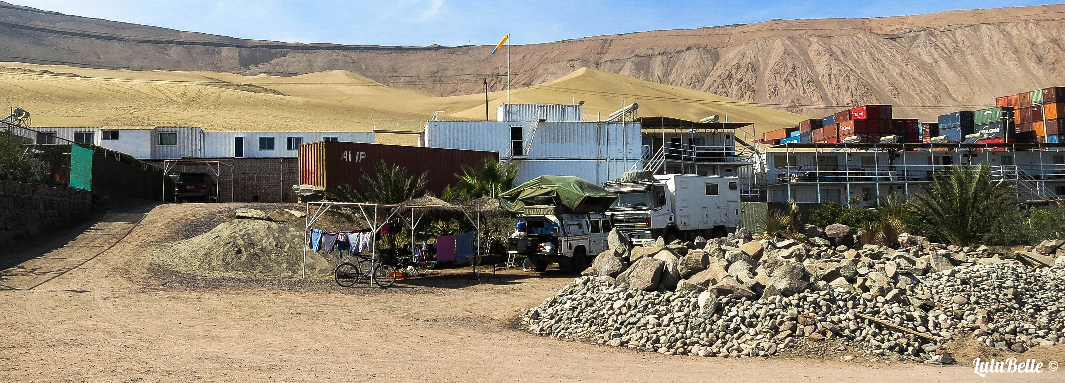 Iquique camp repairs, A2A Expedition