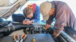 Bill and Luisa check repairs, A2A