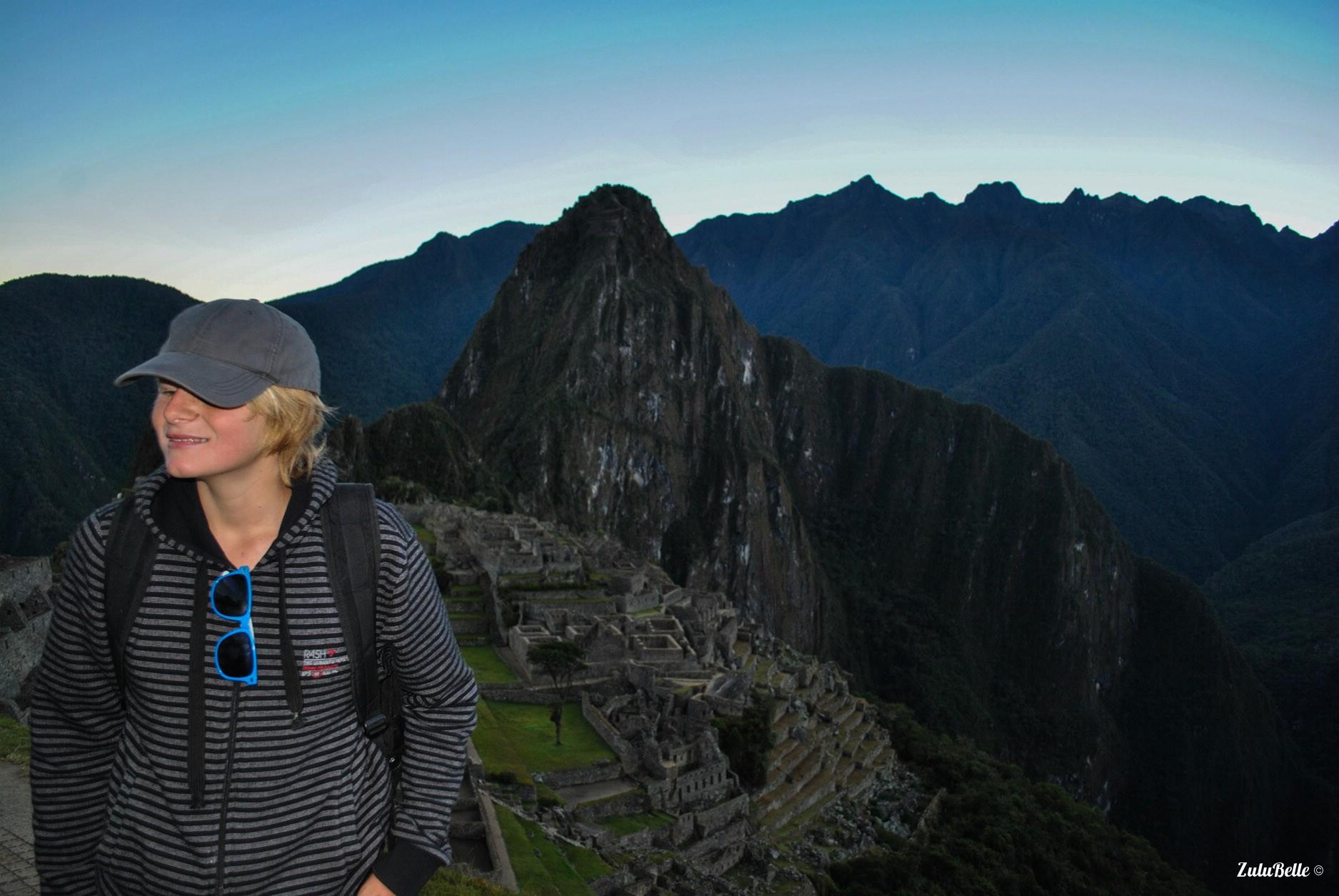 Keelan at Machu Picchu, A2A