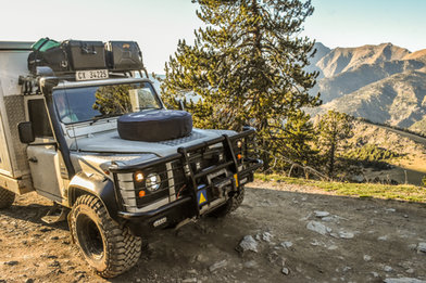 Landy on the hillside, A2A Expedition