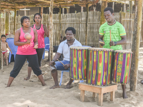 Band playing on the Beach, Togo