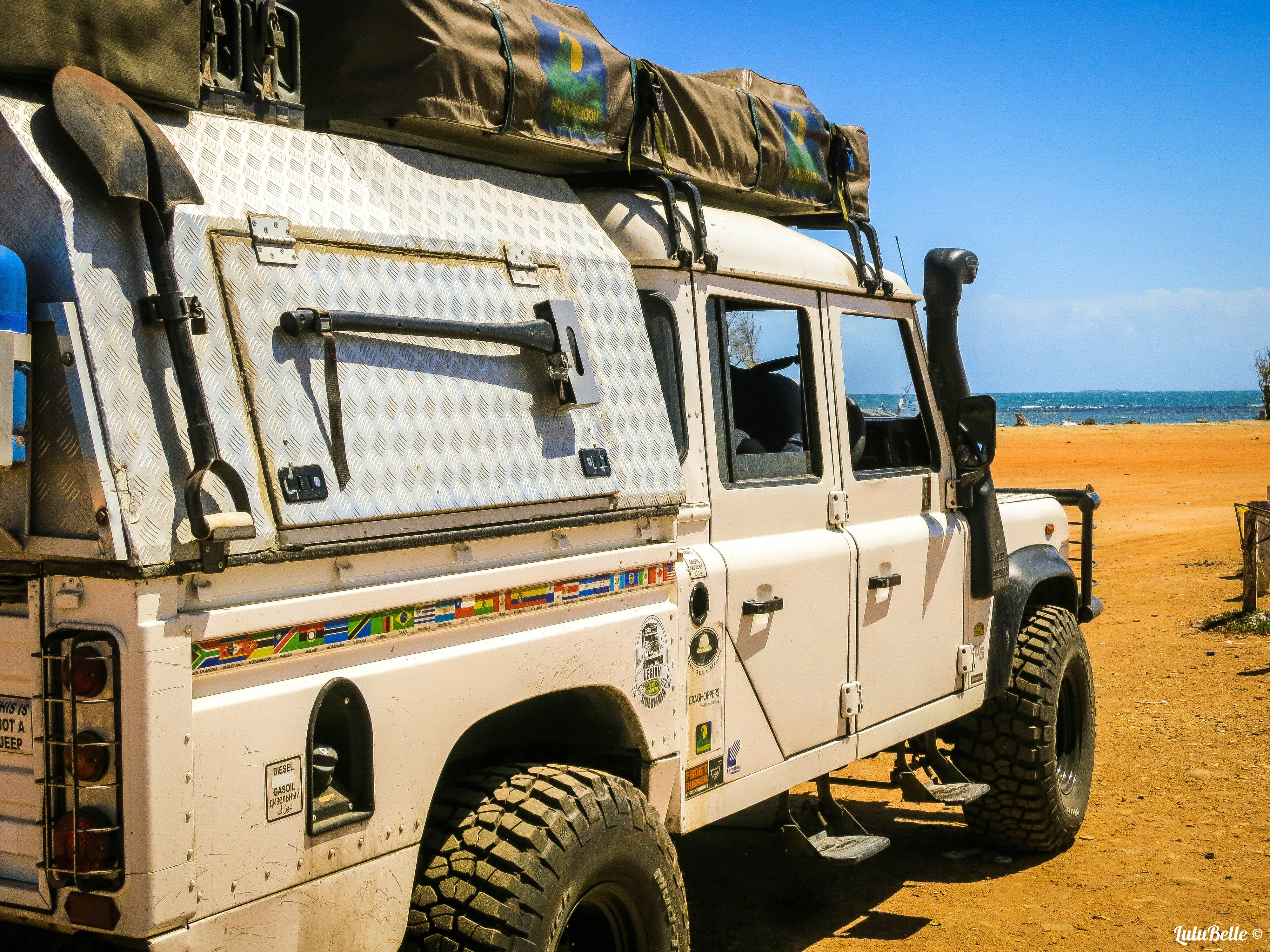 On the beach, A2A Expedition