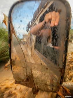 Landy in the swamps, A2A Expedition