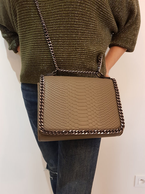 Crossover Croco Taupe