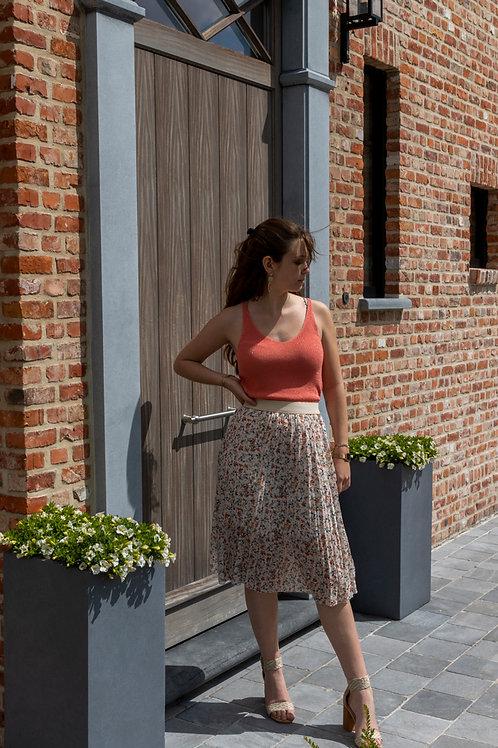 Skirt Plissé Flower