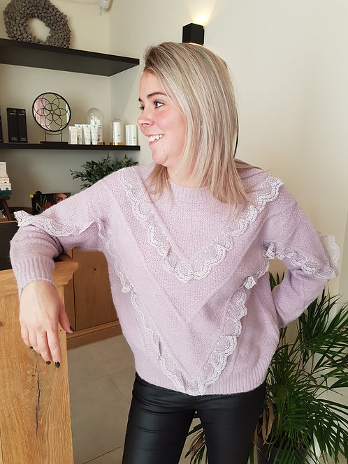Sweater Lila Lace