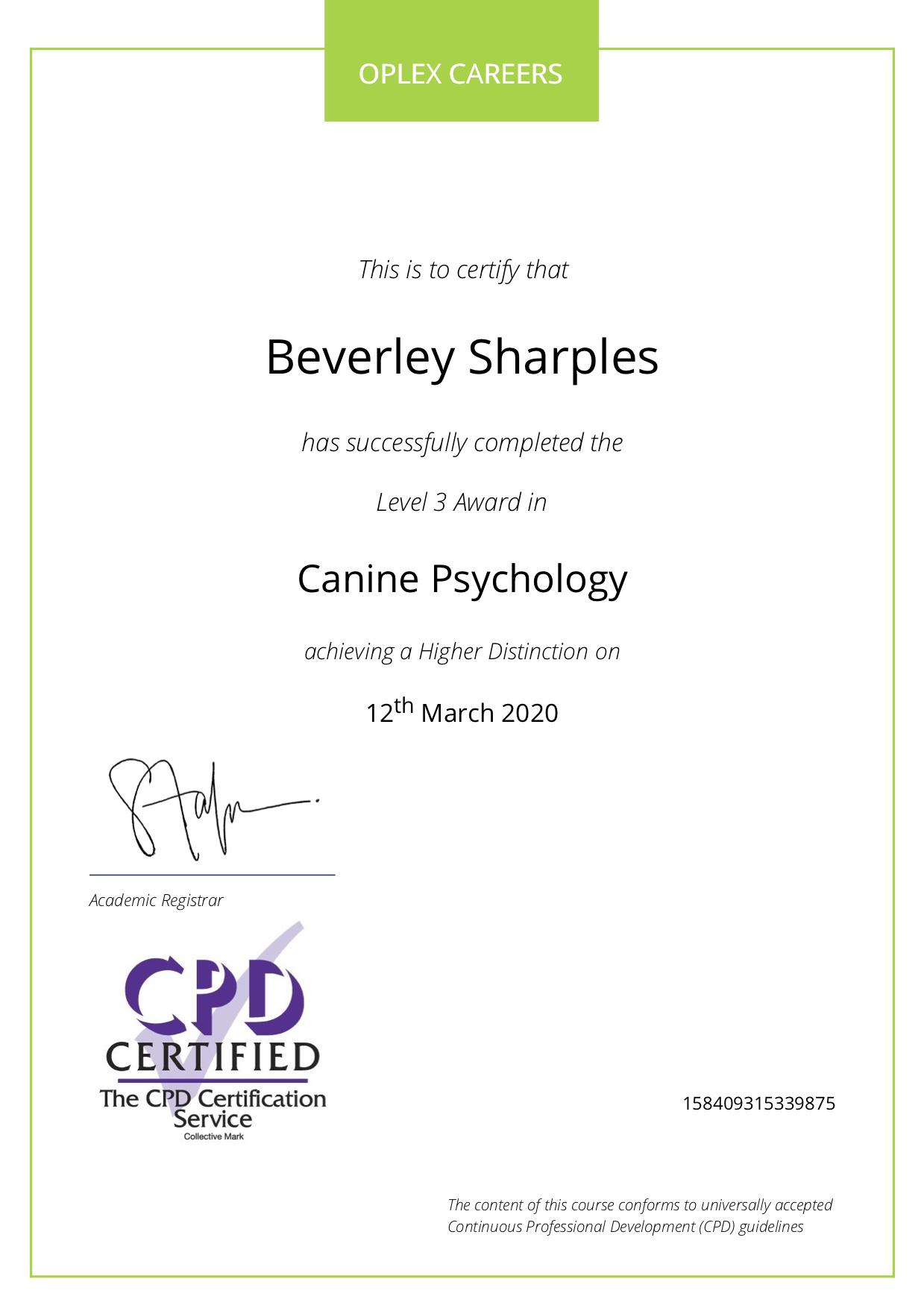 Canine psychology