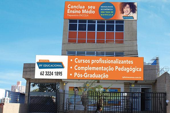 Foto do prédio do Instituto Paulo Freire Goiás, foto da escola Paulo Freire Goiás, foto da fachada do instituto paulo freire goas.