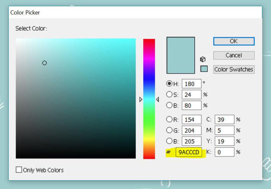 Adobe Illustrator color picker and color codes