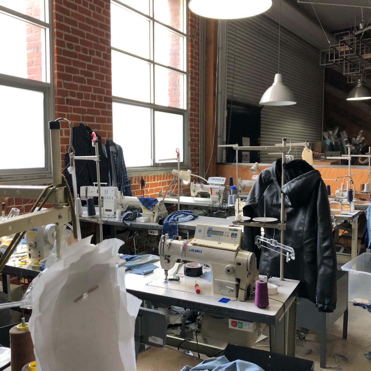 Sample room at a manufacturer