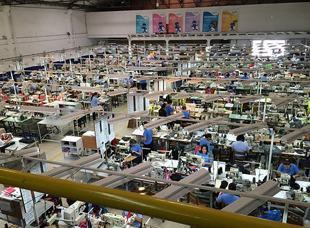 Factory sewing floor