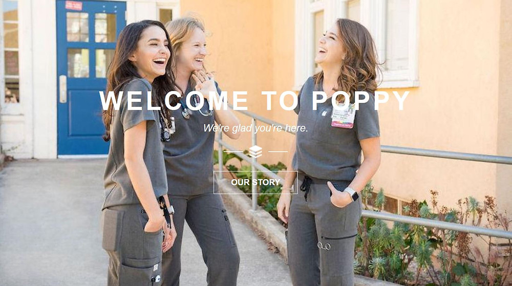 Poppy Scrubs brand launch