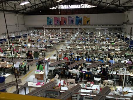 A large-scale factory tour