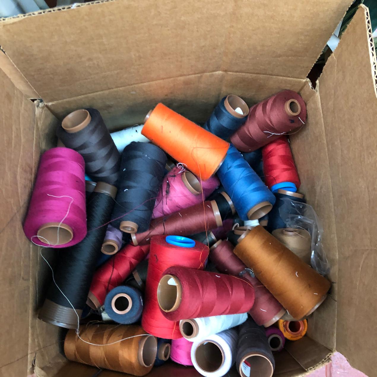 Box of bulk thread cones