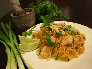 Healthy Twist on Pad Thai made with spaghetti squash.