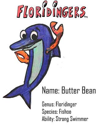 Butter Bean Poster / White Background