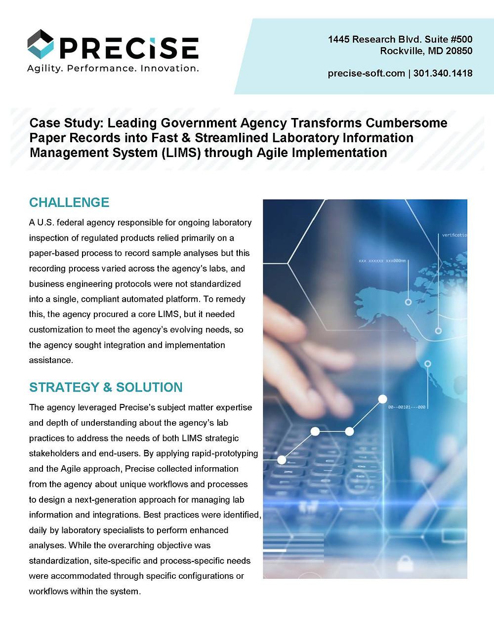 LIMS Case Study