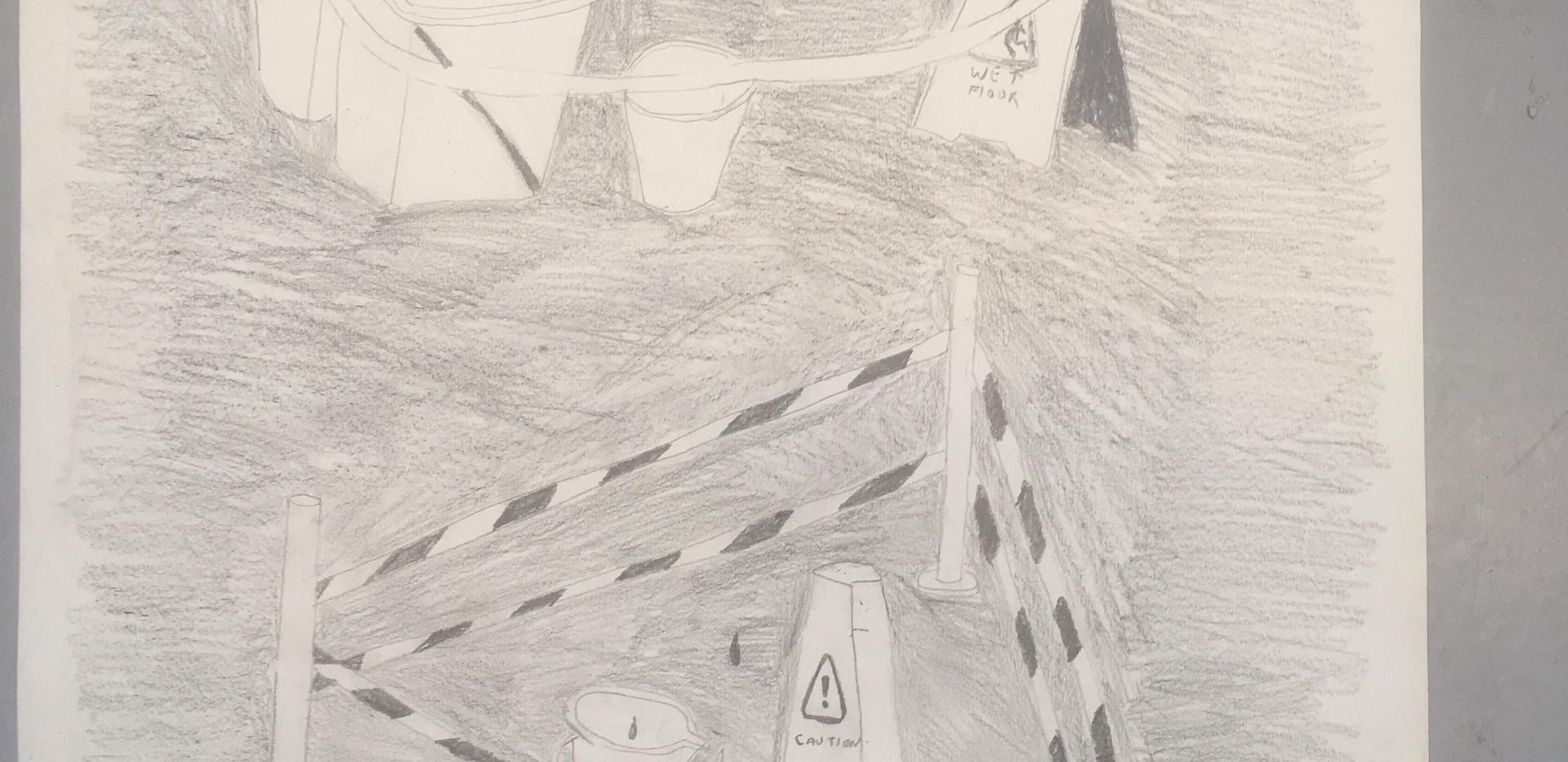 Drip drawing