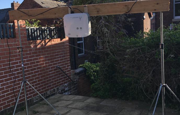 Set up for film in my garden