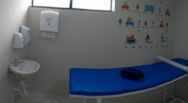 Sala de coleta infantil panorâmica