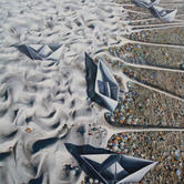 Harbor, 2013 mixed media on canvas, 48%2