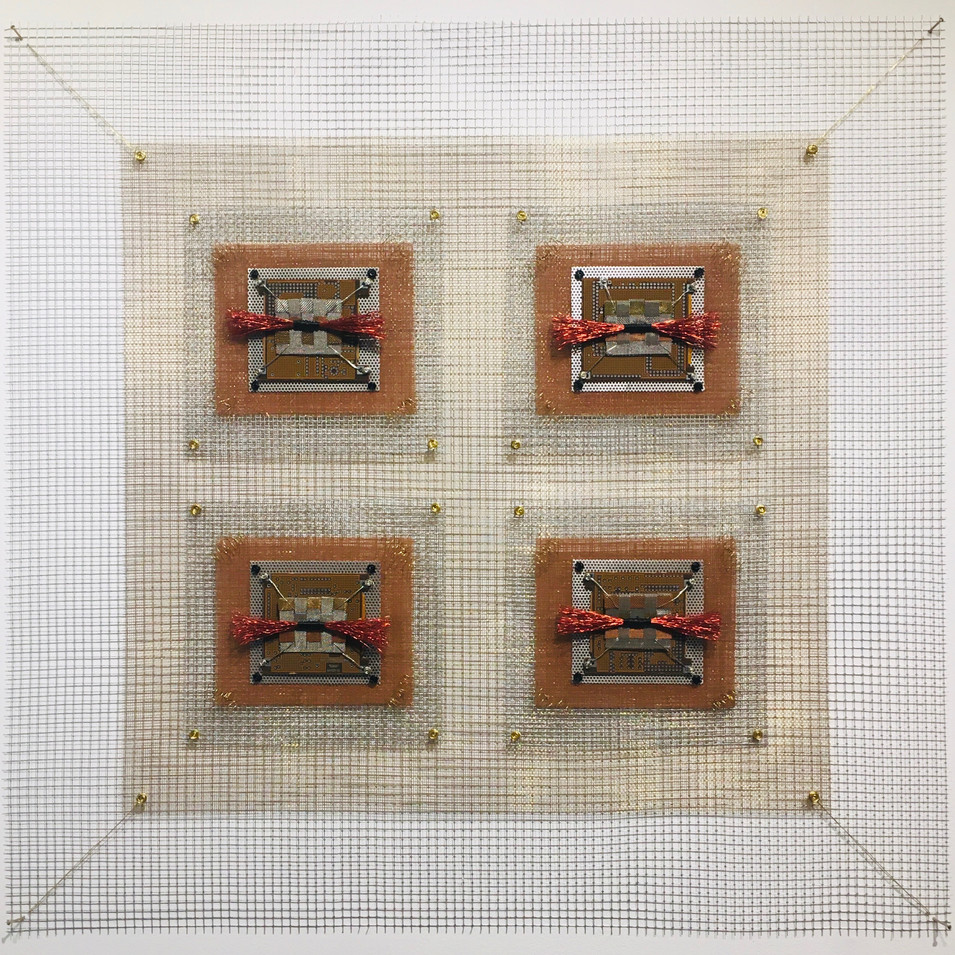 Integrated Circuits Red Woven Industrial Quilt