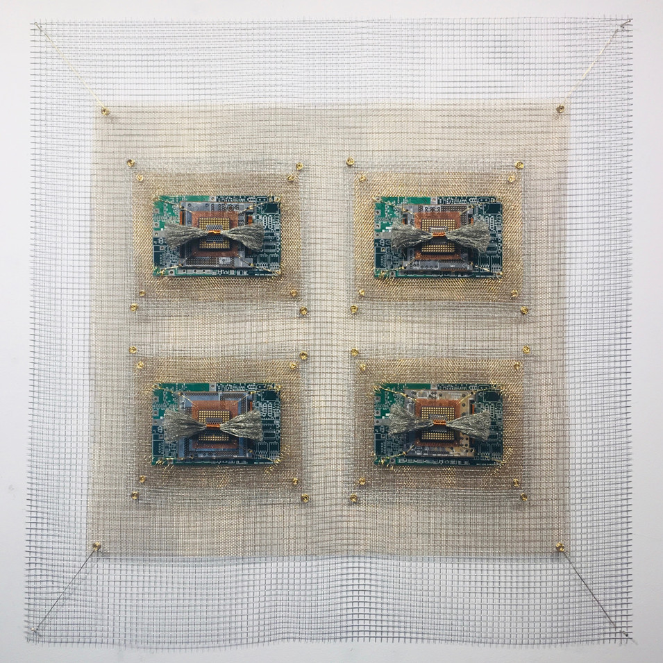 Integrated Circuits Microchip II Industrial Quilt 4 Square