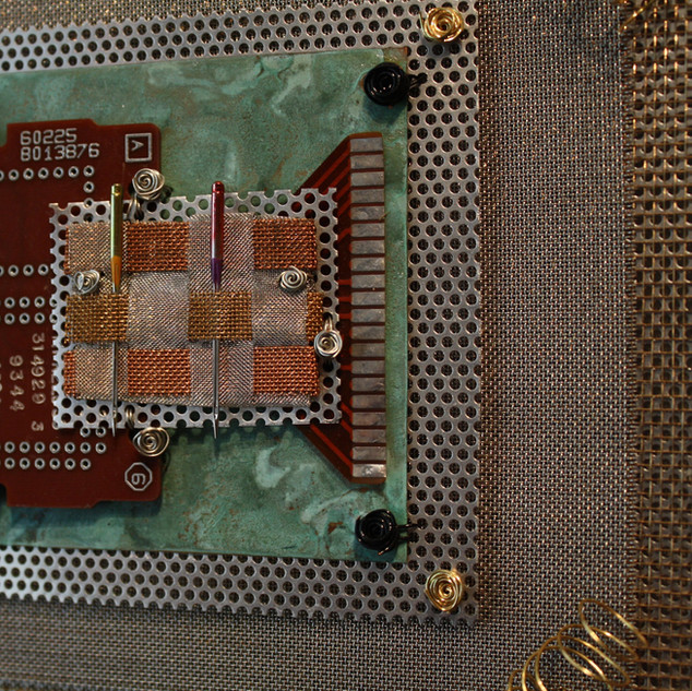 Detail photo Integrated Circuits with Woven Needle & Metal Plate Industrial Quilt
