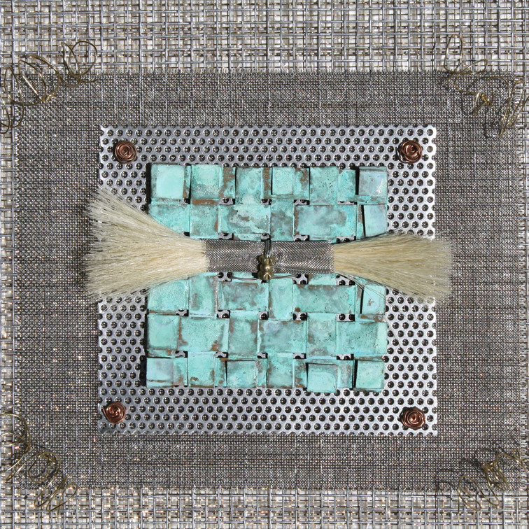 Detail  photo Woven Ritual Industrial Quilt