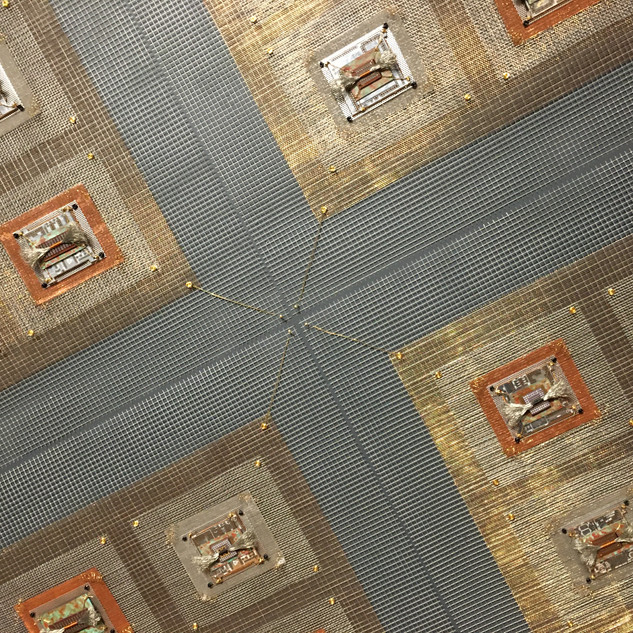 Detail photo Integrated Circuits Microchip Industrial Quilt