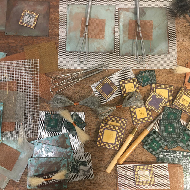 Parts in Progress in the Studio