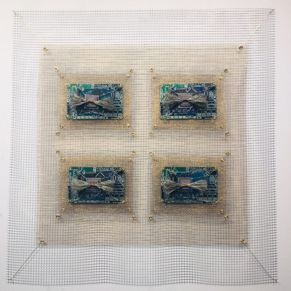 Integrated Circuits Microchip III Industrial Quilt 4 Square