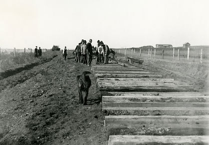 1911 tracklaying for C.P.R. near Standar