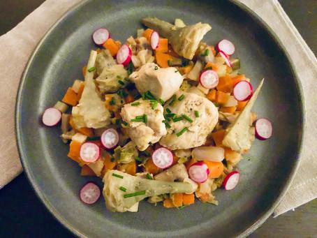 Jardinière de légumes au blanc de poulet