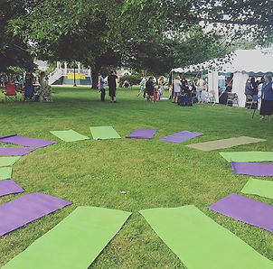 Ready for kids yoga!! Begins at 6_15pm a
